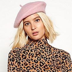 Faith - Light pink wool beret