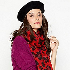 Faith - Black wool beret
