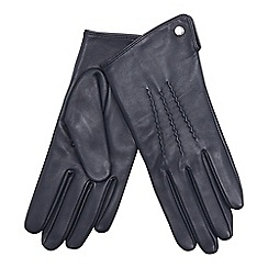 J by Jasper Conran - Navy 3 point leather gloves
