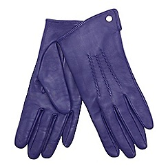 J by Jasper Conran - Purple 3 point leather gloves