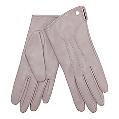 J by Jasper Conran - Mauve 3 point leather gloves