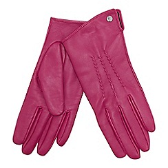 J by Jasper Conran - Bright pink 3 point leather gloves