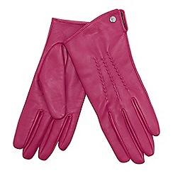 J by Jasper Conran - Bright pink 3 point leather gloves