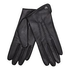 J by Jasper Conran - Black 3 point leather glove