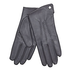 J by Jasper Conran - Grey 3 point leather gloves