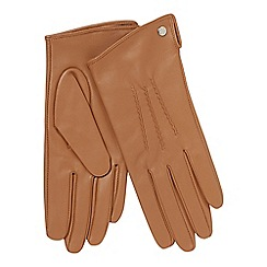 J by Jasper Conran - Camel 3 point leather gloves
