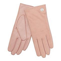J by Jasper Conran - Light pink suede turnlock gloves