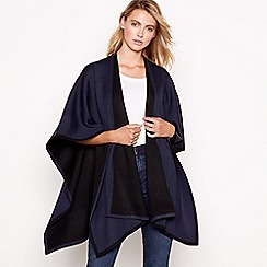 J by Jasper Conran - Navy and black reversible wrap