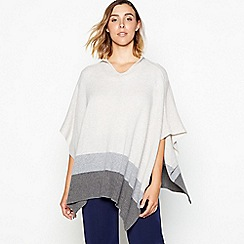 J by Jasper Conran - Grey colour block hooded wrap