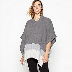 J by Jasper Conran - Dark grey colour block hooded wrap