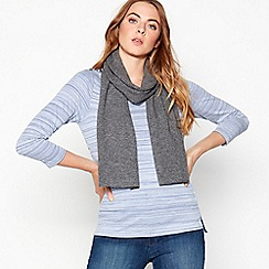 J by Jasper Conran - Dark grey cashmere scarf