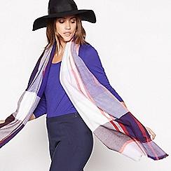 J by Jasper Conran - Purple check print woven scarf