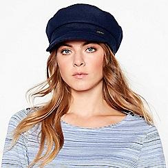 J by Jasper Conran - Navy marl baker boy hat
