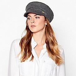 J by Jasper Conran - Grey marl baker boy hat
