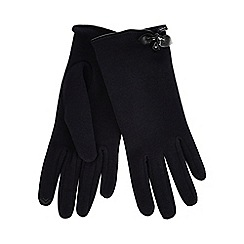 Isotoner - Navy thermal invisible smart touch gloves with bow