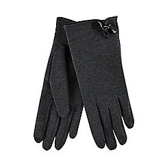 Isotoner - Grey thermal invisible smart touch gloves with bow