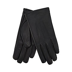 Isotoner - Grey leather invisible smart touch gloves
