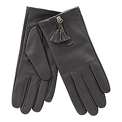 RJR.John Rocha - Grey front zip tasseled leather gloves