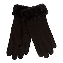 RJR.John Rocha - Black 'Kid' suede lined leather gloves