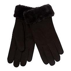 RJR.John Rocha - Black 'Kid' suede lined leather gloves