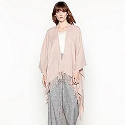 RJR.John Rocha - Pink woven fringed shawl