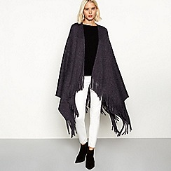 RJR.John Rocha - Dark blue brushed fringed wrap