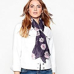 RJR.John Rocha - Navy flower scatter silk scarf