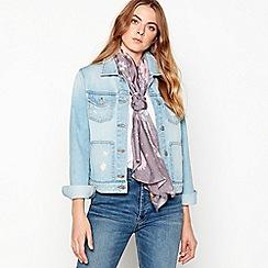 RJR.John Rocha - Grey meadow floral silk scarf