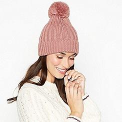 RJR.John Rocha - Pink cable knit pom pom hat
