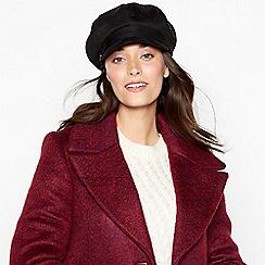 9242ce140eb John Rocha - Black suedette faux fur lined baker boy hat