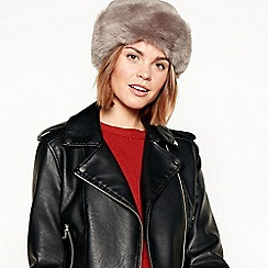 RJR.John Rocha - Grey suedette faux fur lined cossack hat