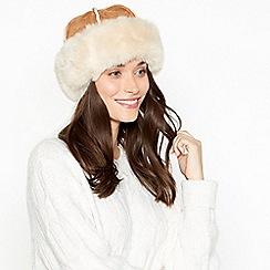 RJR.John Rocha - Tan suedette faux fur lined cossack hat