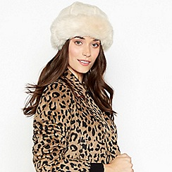 RJR.John Rocha - Cream suedette faux fur lined cossack hat
