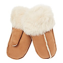 RJR.John Rocha - Tan faux sheepskin mitten gloves