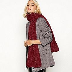 RJR.John Rocha - Dark red cable knit scarf