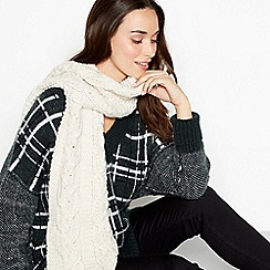RJR.John Rocha - Cream cable knit scarf