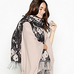 RJR.John Rocha - Dark grey floral woven scarf