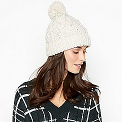 RJR.John Rocha - Cream cable knit pom pom hat