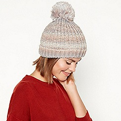 RJR.John Rocha - Multicoloured ombre metallic knit pom pom hat