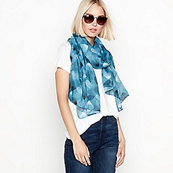 Mantaray - Turquoise blue heart print scarf
