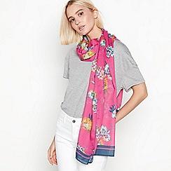 Mantaray - Pink floral print scarf