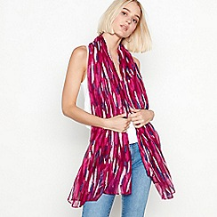 Mantaray - Dark pink brushstroke foil print scarf