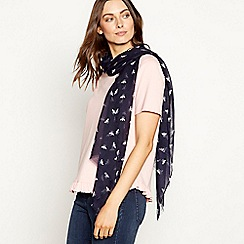Mantaray - Navy bee print scarf
