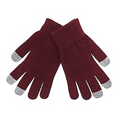Mantaray - Dark red 'Magic' touchscreen gloves
