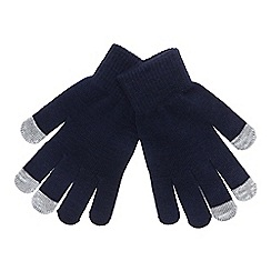 Mantaray - Navy 'Magic' touchscreen gloves