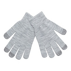 Mantaray - Grey 'Magic' touchscreen gloves