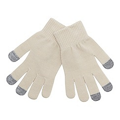 Mantaray - Cream 'Magic' touchscreen gloves