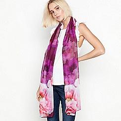 Mantaray - Dark pink floral print scarf