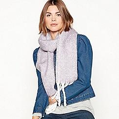 Mantaray - Lilac brushed woven scarf