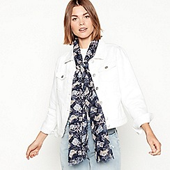 Mantaray - Navy owl printed scarf